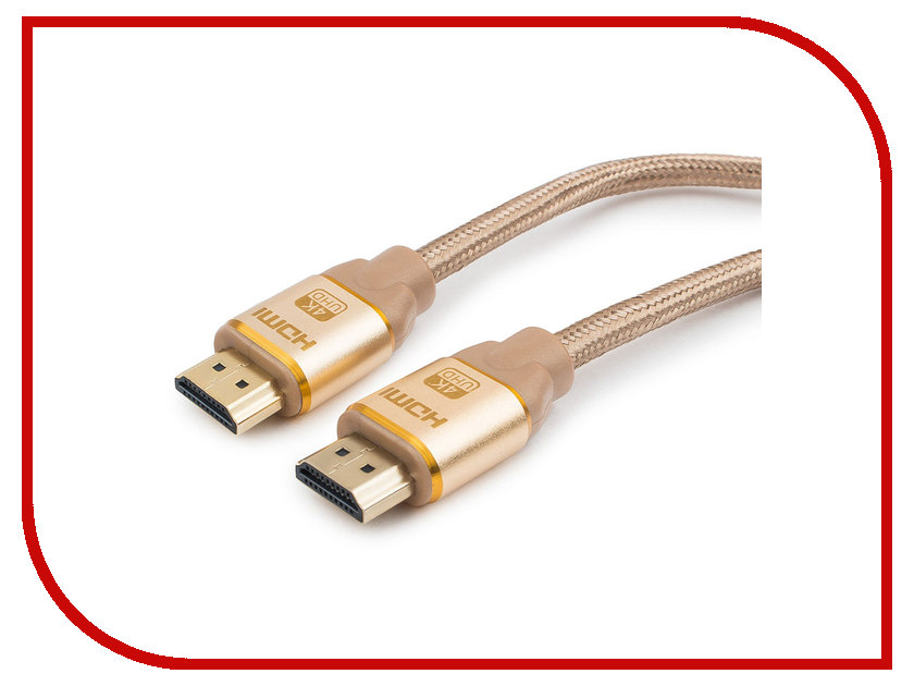 Аксессуар Gembird Cablexpert Gold HDMI M/M v1.4 1.8m Gold CC-G-HDMI03-1.8M