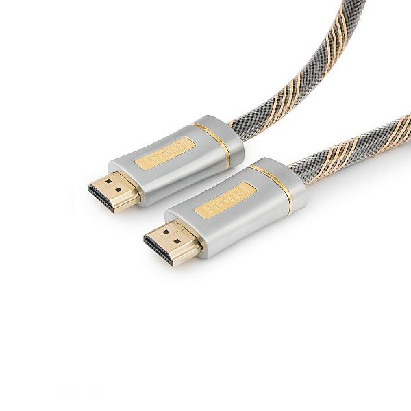 Фото - Аксессуар Gembird Cablexpert Platinum HDMI M/M v2.0 1m CC-P-HDMI02-1M кабель hdmi 15м cablexpert cc g hdmi02 15m круглый черный красный cc g hdmi02