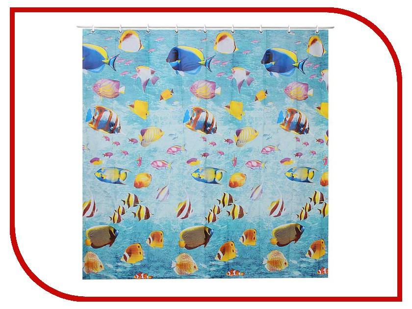 Шторка Доляна Морской риф 180x180cm 1740216
