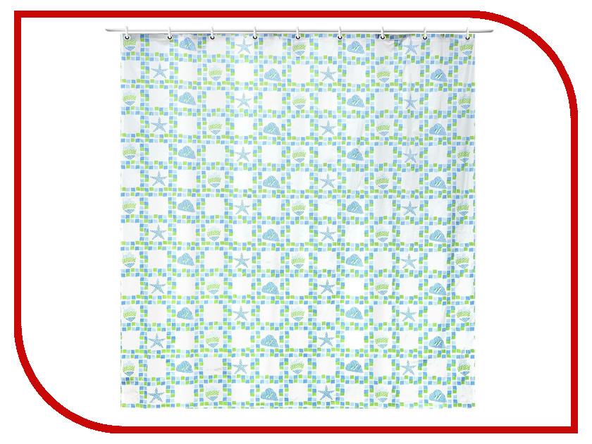 Шторка Доляна Моркая плитка 180x180cm 1279190