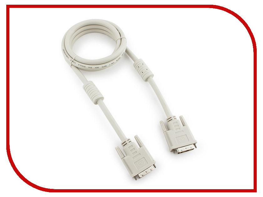 Аксессуар Gembird Cablexpert DVI-D Single Link 19M/19M 1.8m Grey CC-DVI-6C аксессуар gembird cablexpert hdmi dvi 19m 19m 1 8m single link black cc hdmi dvi 6