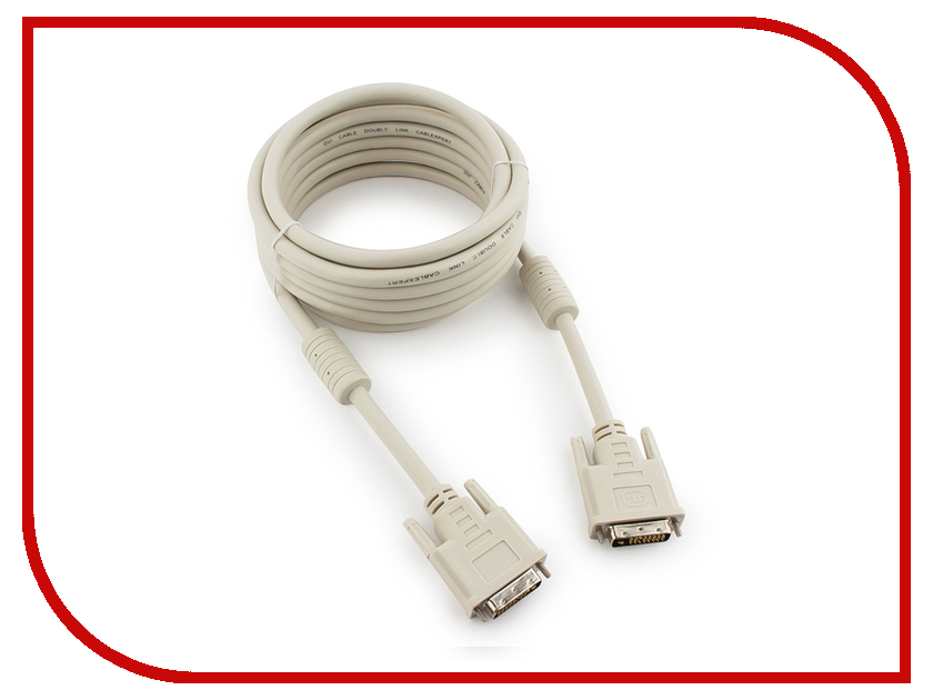 Аксессуар Gembird Cablexpert DVI-D Single Link 19M/19M 4.5m Grey CC-DVI-15 аксессуар gembird cablexpert dvi d single link 19m 19m 1 8m grey cc dvi 6c