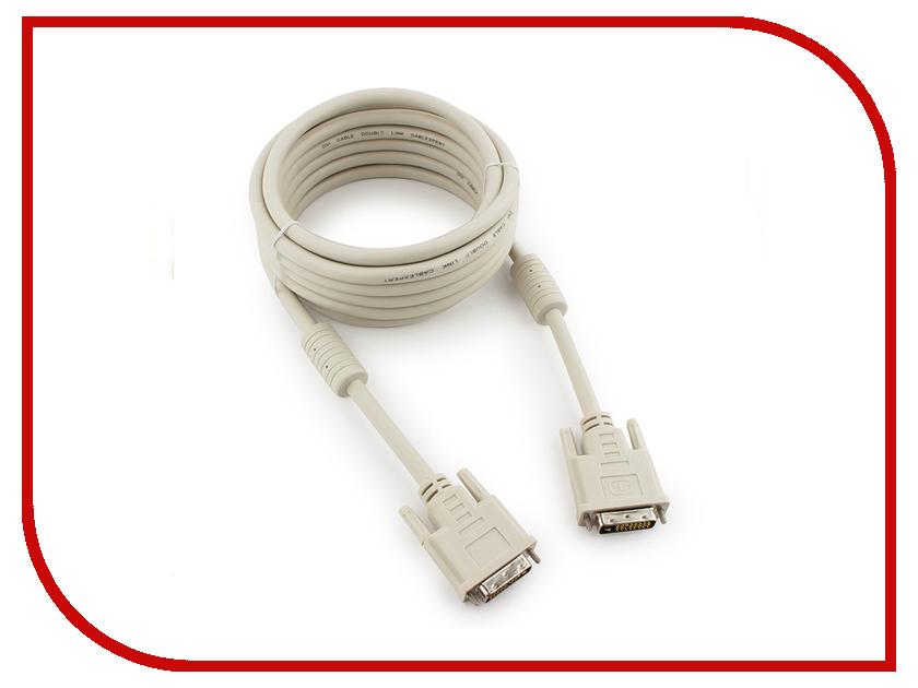 Аксессуар Gembird Cablexpert DVI-D Dual Link 25M/25M 4.5m CC-DVI2-15 кабель dvi dvi 1 8м dual link gembird ферритовые кольца cc dvi2 6 6c