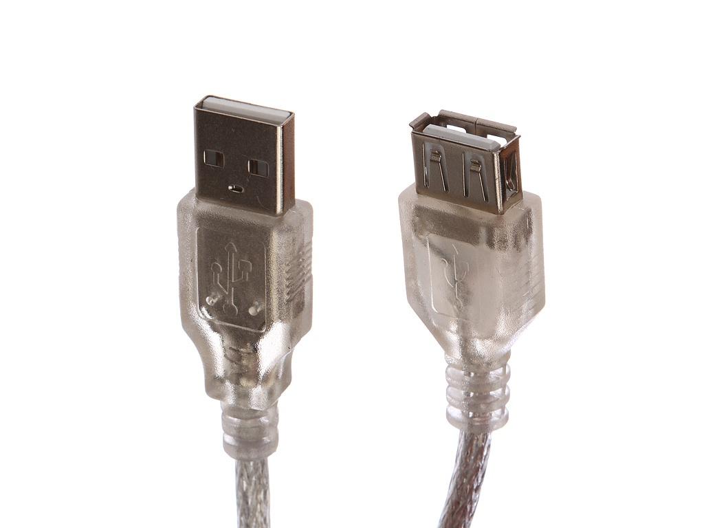 Аксессуар Gembird Cablexpert Pro USB2.0 AM/AF 75cm Transparent CCF-USB2-AMAF-TR-0.75M
