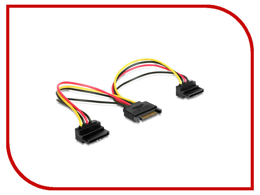 Аксессуар Кабель питания Gembird Cablexpert SATA 15-pin/M - 2x15-pin/F 15cm CC-SATAM2F-02 sata 22 pin male to micro sata 16 pin female power adapter