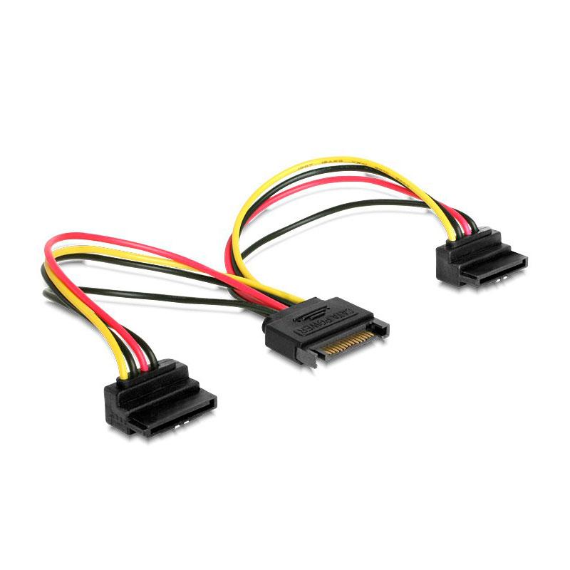 Аксессуар Кабель питания Gembird Cablexpert SATA 15-pin/M - 2x15-pin/F 15cm CC-SATAM2F-02