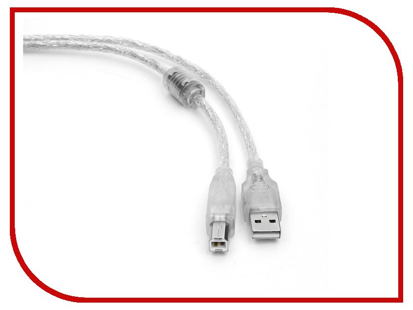 Аксессуар Gembird Cablexpert Pro USB 2.0 AM/BM 75cm Transparent CCF-USB2-AMBM-TR-0.75M аксессуар gembird usb miniusb 1 8m cc usb2 am5p 6