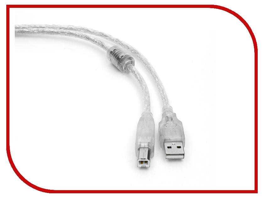 Аксессуар Gembird Cablexpert Pro USB 2.0 AM/BM 3m Transparent CCF-USB2-AMBM-TR-10 аксессуар gembird usb miniusb 1 8m cc usb2 am5p 6