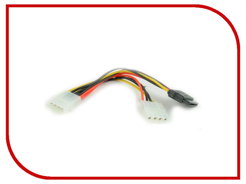 Аксессуар Кабель питания Gembird Cablexpert Molex - Molex+SATA 15cm CC-SATA-PSY2 iocrest si ada20156 usb 3 0 sata adapter for 2 5 sata ii hard drive black