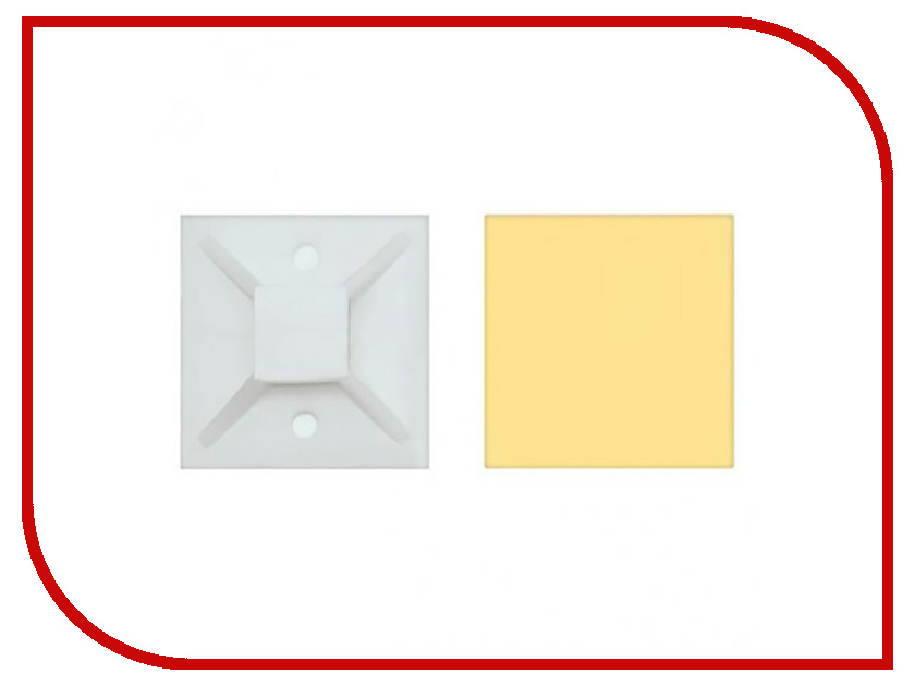 Площадка под хомуты Gembird Cablexpert SAP-20 20x20mm самоклеящаяся White - 100шт 100 20x20mm p06707