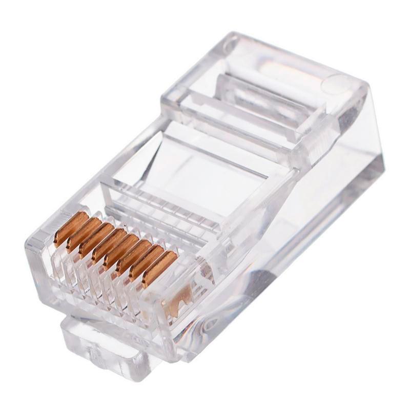 Коннектор Gembird Cablexpert RJ45 8P8C cat.5e PLUG3UP6/10 - 10шт коннектор gembird cablexpert rj45 8p8c cat 5e plug3up6 10 10шт