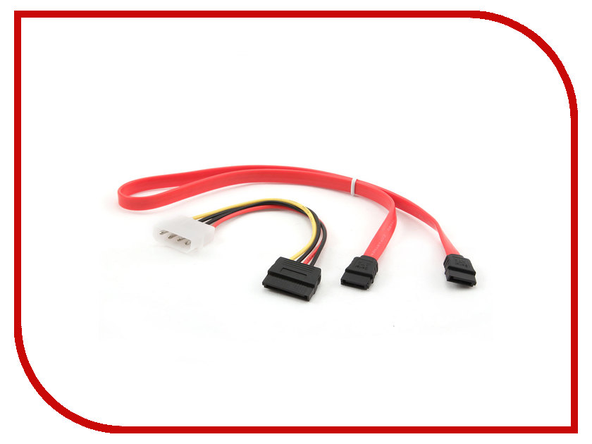 Аксессуар Комплект кабелей Gembird Cablexpert Комплект SATA 48cm и Molex - SATA 15cm CC-SATA