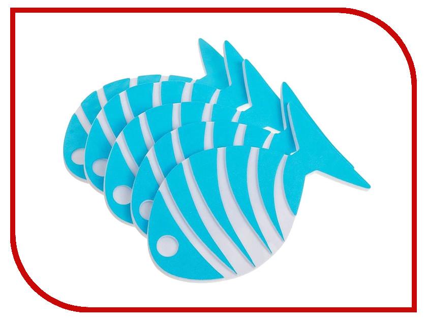 Коврик для купания Доляна Набор Рыбка-полосатик 5шт 2364692 коврик доляна лошадь grey 3624940
