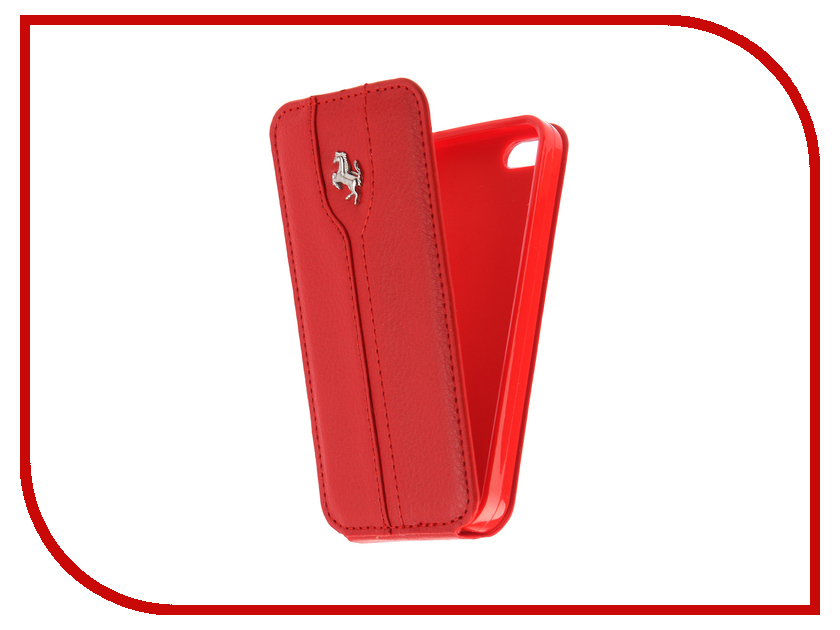 Аксессуар Чехол для APPLE iPhone 5 Innovation Ferrari Red аксессуар чехол innovation jeans для apple iphone 5g 5s 5se beige 10761