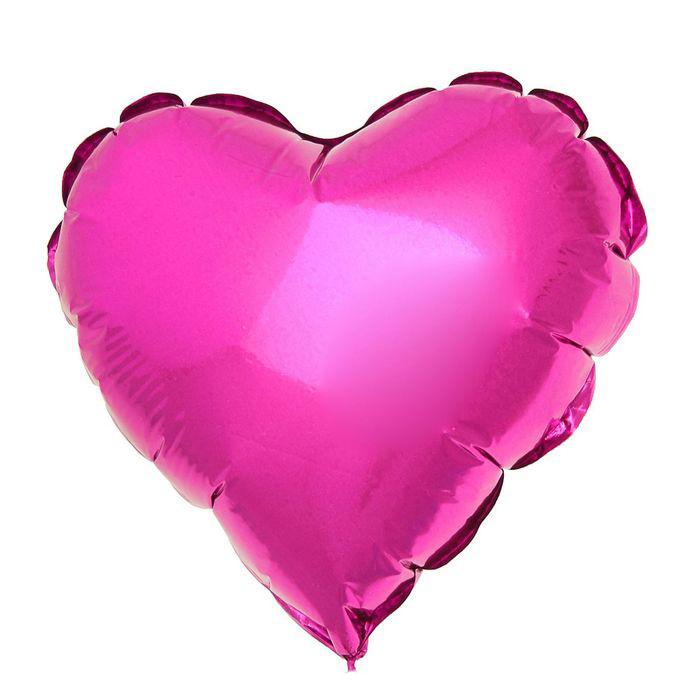 Шар фольгированный Flexmetal Сердце Purple 1246952