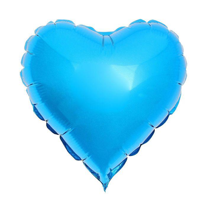 Шар фольгированный Flexmetal Сердце Blue 1246949