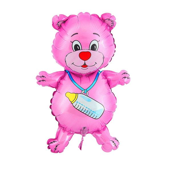 Шар фольгированный Flexmetal Медвежонок-девочка 1230029