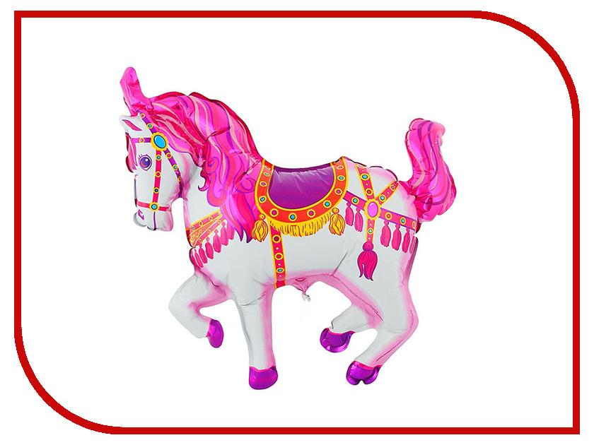 Шар фольгированный Flexmetal Лошадь цирковая Pink 1230020 цирковая азбука
