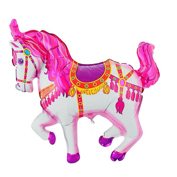 Шар фольгированный Flexmetal Лошадь цирковая Pink 1230020