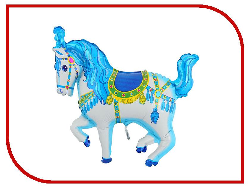 Шар фольгированный Flexmetal Лошадь цирковая Blue 1230018 коньки onlitop 223f 37 40 blue 806164