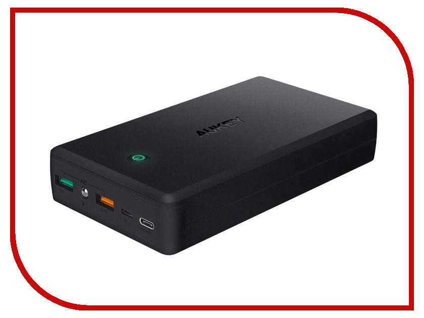 Аккумулятор Aukey 30000mAh PB-Y7 Power Delivery PD 2.0 Black внешний аккумулятор aukey pb t9 qc3 0 16000mah black