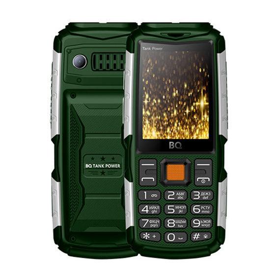 Сотовый телефон BQ BQ-2430 Tank Power Green-Silver сотовый