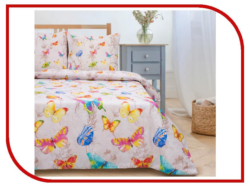 Постельное белье Этель Бабочки Комплект Евро Поплин 1504651