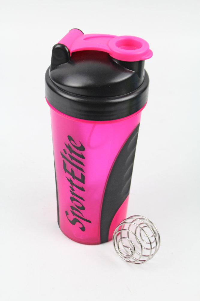 Шейкер Sport Elite SH-120 600ml Pink-Black шейкер sport elite sh 200 700ml black