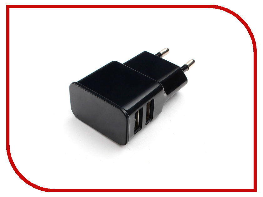 Зарядное устройство Gembird Cablexpert 2xUSB 2.1A MP3A-PC-12 Black цена