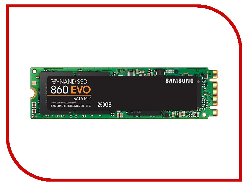 Жесткий диск 250Gb - Samsung 860 EVO M.2 MZ-N6E250BW samsung 860 evo 860evo 250gb 250g 2 5 sata3 ssd pc desktop laptop server 2 5 internal solid state dribe ssd