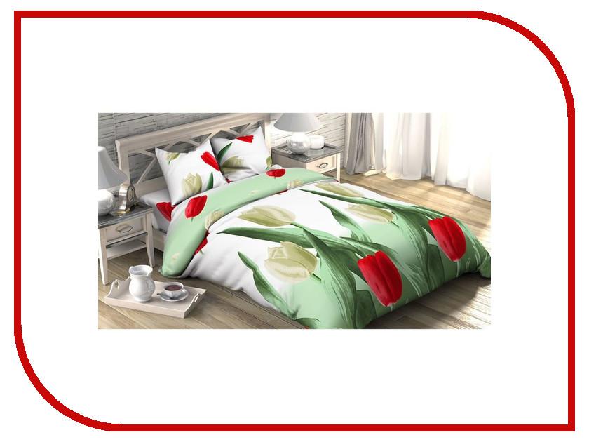 Постельное белье Этель Тюльпаны Комплект Евро Бязь 1090429 харьков сортовые тюльпаны 2014