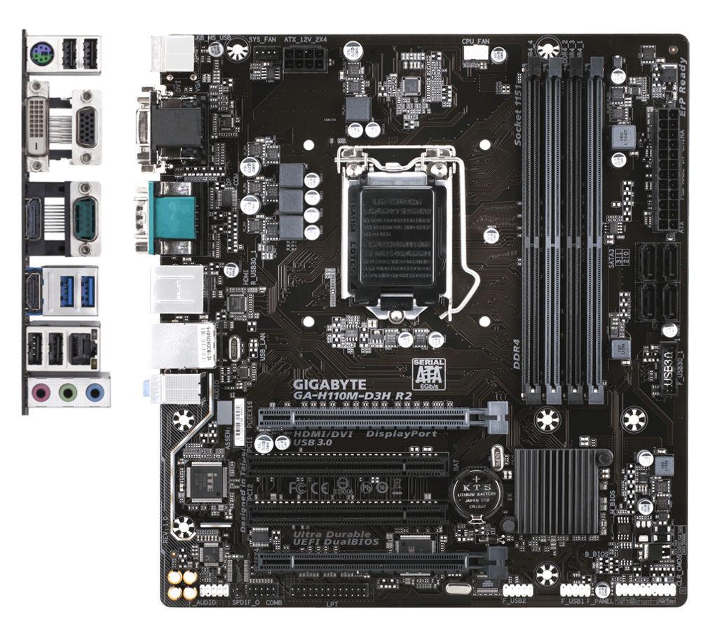 Материнская плата GigaByte GA-H110M-D3H R2 gigabyte gigabyte ga h110n