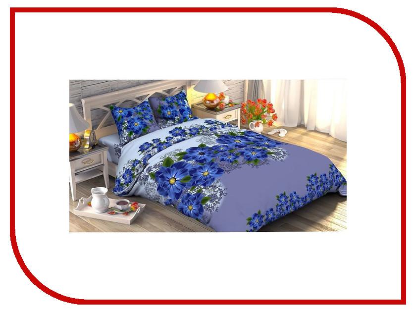 Постельное белье Этель Незабудка Комплект Дуэт Поплин 1534768 постельное белье этель малина дуэт комплект дуэт поплин 1154370