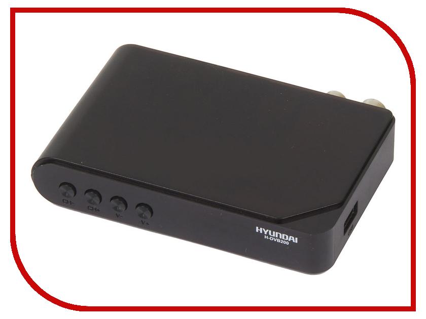 Hyundai H-DVB200 Black телевизор hyundai h led32r401bs2
