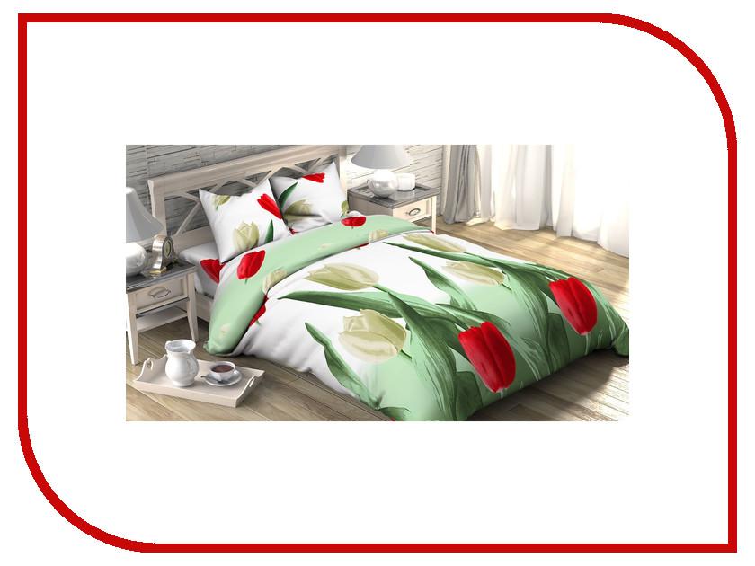Постельное белье Этель Тюльпаны Комплект Дуэт спальный Бязь 1090455 непоседа постельное белье зайчата 3 пред бязь непоседа желтый