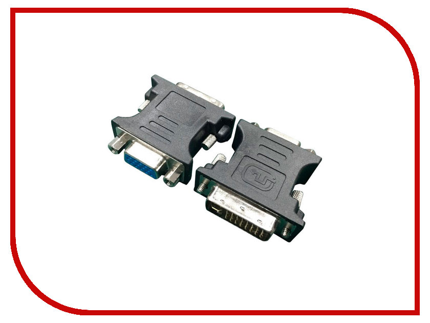 Аксессуар Gembird Cablexpert DVI-VGA 29M/15F A-DVI-VGA-BK Black new dvi male adapter dvi d 24 1 to female vga 15 pin