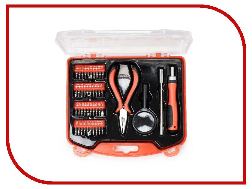 Набор инструмента Gembird Cablexpert 44 пр. TK-BASIC-02 набор инструментов gembird cablexpert tk solder