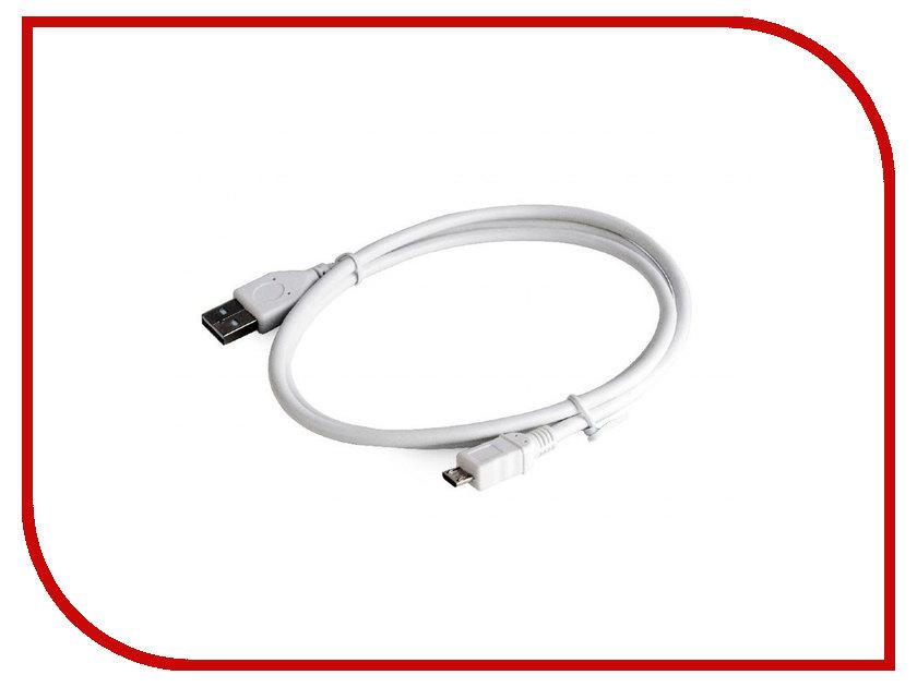Аксессуар Gembird Cablexpert Pro USB 2.0 AM/microBM 5P 1m White CCP-mUSB2-AMBM-W-1M momentum часы momentum 1m sp17ps0 коллекция heatwave