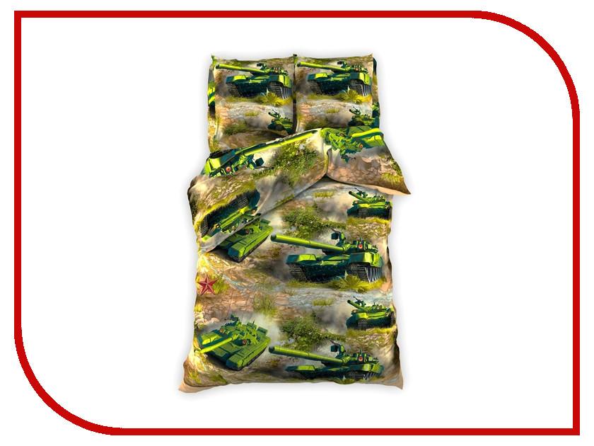 Постельное белье Этель Танки Комплект 1.5 спальный Бязь 1317329 непоседа постельное белье зайчата 3 пред бязь непоседа желтый