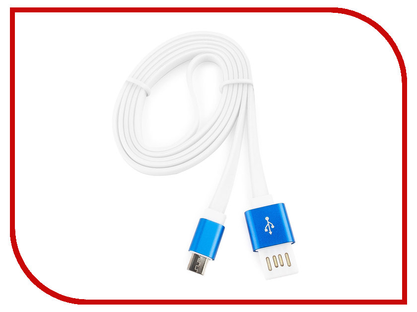 Аксессуар Gembird Cablexpert USB 2.0 AM/microBM 5P 1m Blue CC-mUSBb1m кабель usb gembird cc musbb1m 1м cc musbb1m page 7
