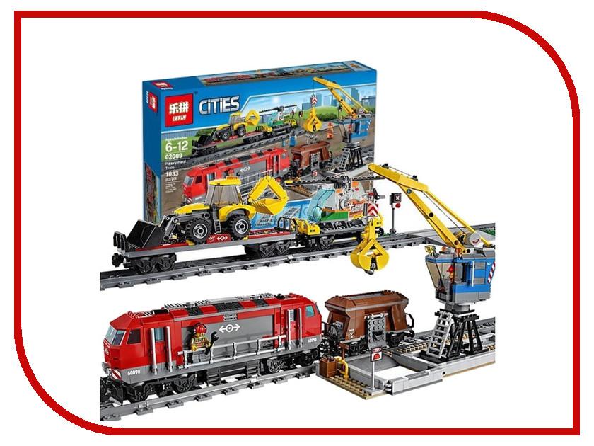 Конструктор Lepin Cities Мощный грузовой поезд 1033 дет. 02009 конструктор lepin cities рыболовный катер 159 дет 02028