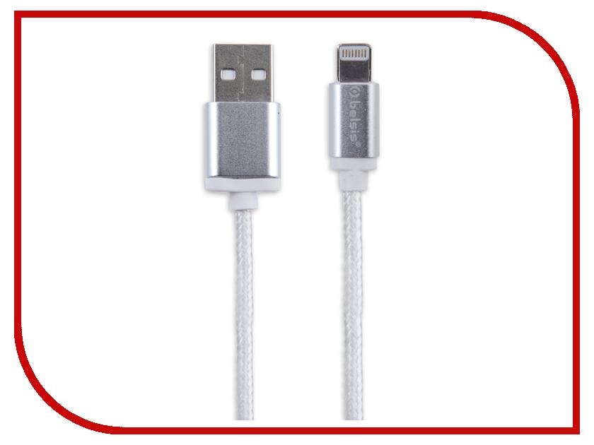 Аксессуар Belsis Lightning - USB A 1.3m White BS3002W аксессуар usams us sj199 usb lightning 1 2m blue