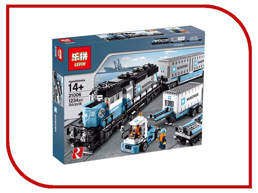Конструктор Lepin Creators Грузовой Поезд Маерск 1234 дет. 21006 конструктор lepin technician экскаватор 760 дет 20025