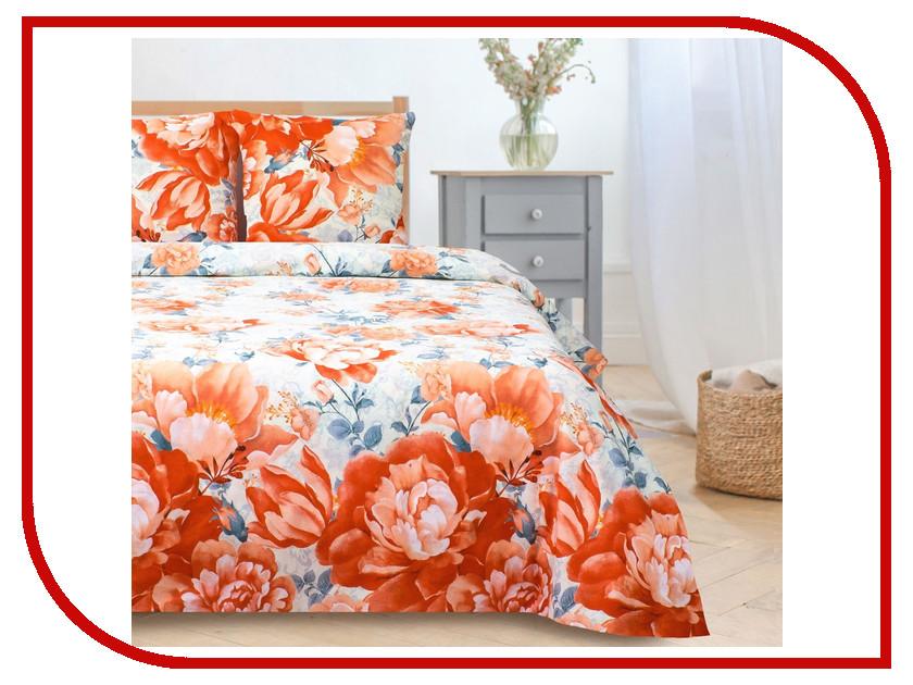 Постельное белье Этель Пионы Комплект 2 спальный Поплин 1089513