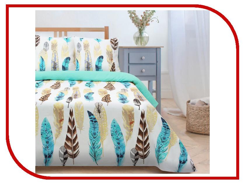 Постельное белье Этель Перья Комплект 2 спальный Поплин 2759793
