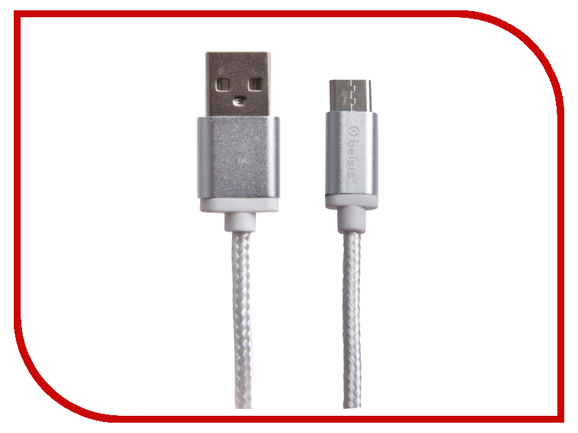 Аксессуар Belsis USB 2.0 A - USB Type-C 1.3m White BS3003W 50pcs micro usb 3 0 male to usb c usb 3 1 type c female extension data cable for macbook tablet 10cm by fedex