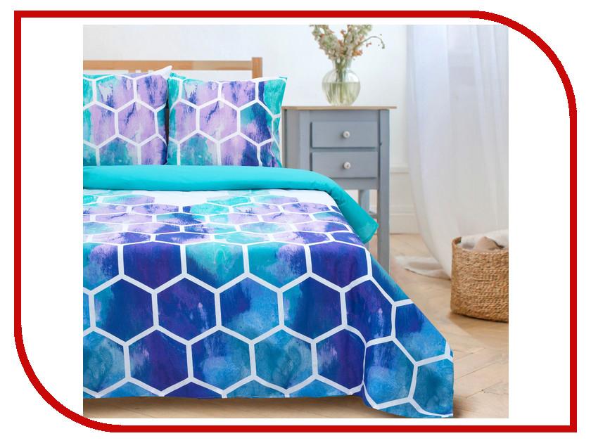 Постельное белье Этель Акварельные соты вид 2 Комплект 1.5 спальный Поплин 2759796