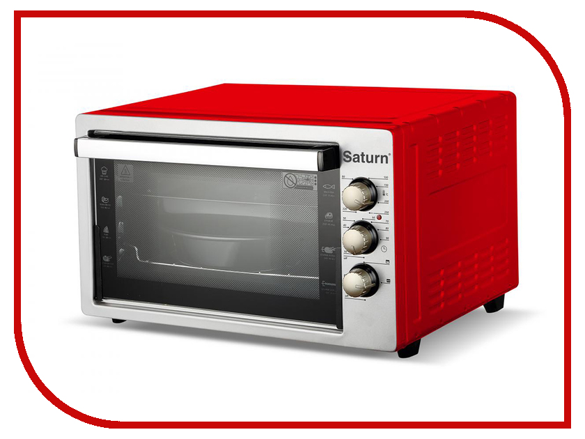 Мини печь Saturn ST-EC1087 Red мини печь saturn st ec1077 red