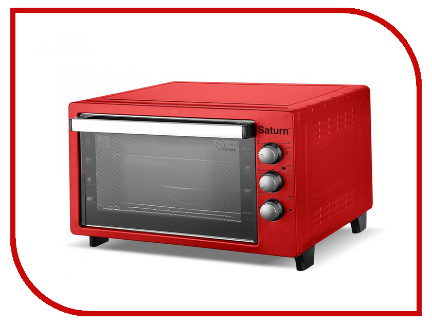 Мини печь Saturn ST-EC1090 Red мини печь saturn st ec1077 red