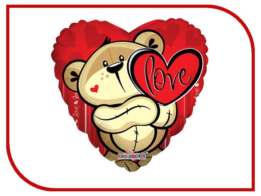 Шар фольгированный Conver Медвежонок с сердцем 2873214 conver conver co005emhxm76